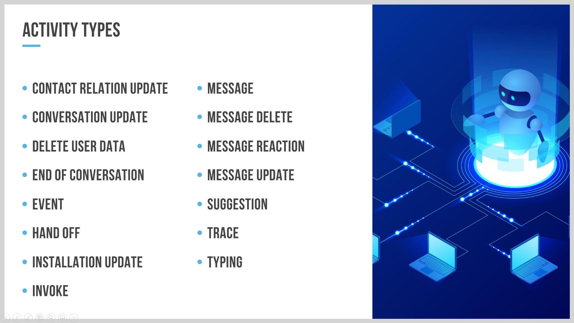 Bot activity types